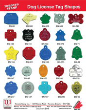 Dog License Tag Shapes