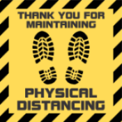 "CVD-SAD - Physical Distancing Stickers 2.5""x2.5"""