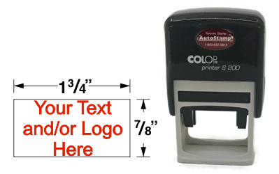 Custom rubber stamp, ideal for signature, address, and logo stamps.
