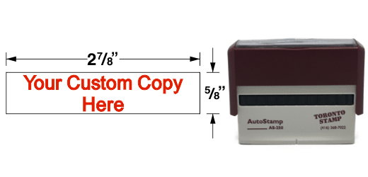 AS-250 - AutoStamp™  Self-Inking Rubber Stamp