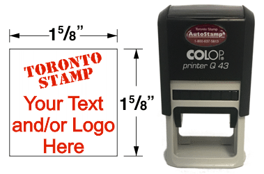 AS-43Q - AutoStamp™ Self-Inking Rubber Stamp
