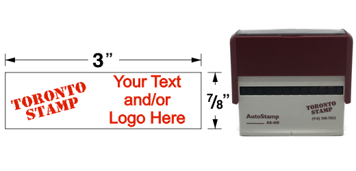 "AS-450 - AutoStamp™ Self-Inking Stamp - 3"" x 7/8"""