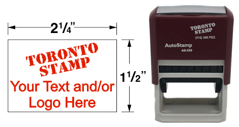 AS-550 - AutoStamp™ Self-Inking Rubber Stamp