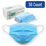 3-layered ASTM-rated Level 1 & 2 face masks in a variety of styles, specifications, and quantities. Latex- and metal-free, sterilized with ethylene oxide, and designed to comfortably cover the mouth, nose, and lower jaw, with laminated nose crimps.
