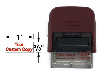 The AS-100 is ideal for making multiple small impressions. Its small frame limits how much you can fit onto it. It's ideal for marking your documents with short phrases or one standout message and you can expect to get thousands of impressions per ink pad