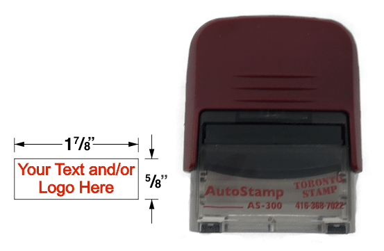 AS-300 Self Inking Rubber Stamp is ideal for signatures, addresses, commissioner stamps, and custom messages.