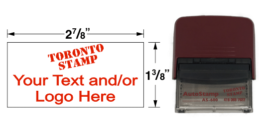AS-600 - AutoStamp™ Self-Inking Rubber Stamp